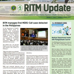 Download RITMUpdate Volume 2 Issue 1, January – March 2015